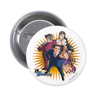 Phoenix Wright Key Art Pinback Button