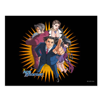 Phoenix Wright Key Art Postcard