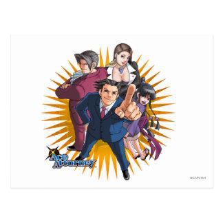 Phoenix Wright Key Art Postcard