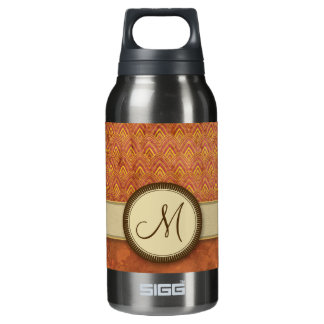 Phoenixes Fire Feather Pattern with Monogram Insulated Water Bottle