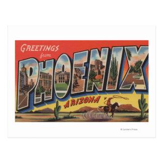 Phoeniz, Arizona - Large Letter Scenes Post Card