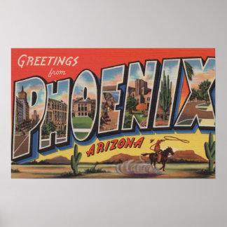 Phoeniz, Arizona - Large Letter Scenes Poster