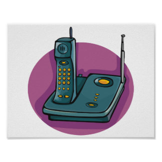 Phone And Answering Machine Poster