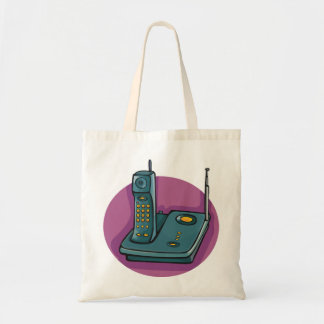 Phone And Answering Machine Tote Bag