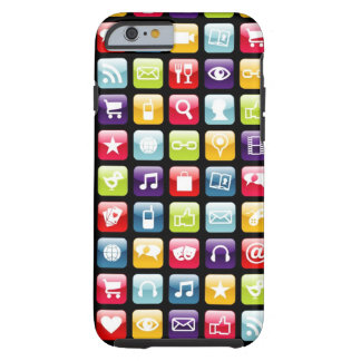 Phone App Icons Pattern Tough iPhone 6 Case