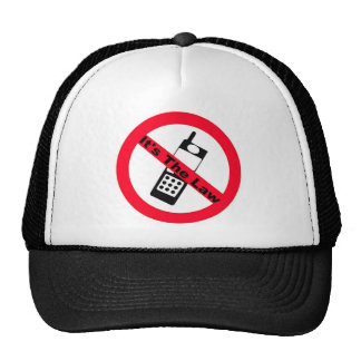Phone Ban It's The Law Trucker Hat