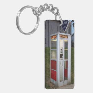Phone Booth Canvas Keychain