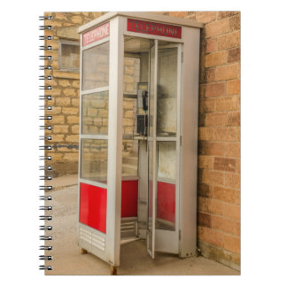 Phone Booth - Pay Phone - Payphone - Public Phone Spiral Notebook