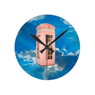 phone booth round clock