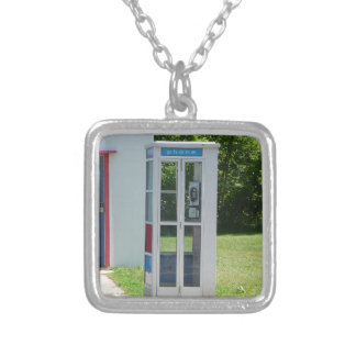 Phone Booth Silver Plated Necklace