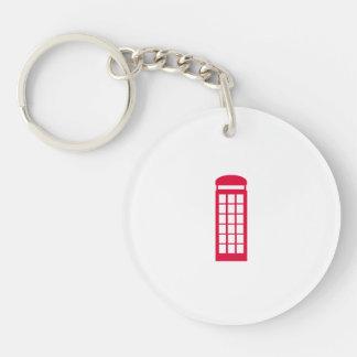 phone booth Single-Sided round acrylic keychain