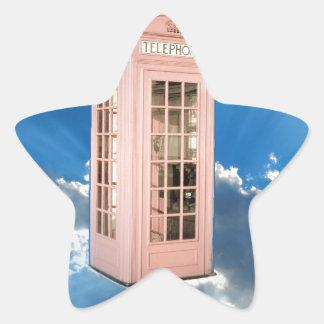 phone booth star sticker