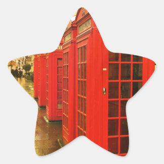 Phone boxes star sticker