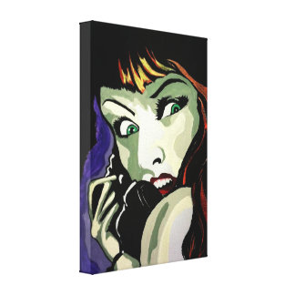 'Phone Call' Stretched Canvas Print