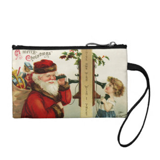 Phone Call with Santa Change Purse