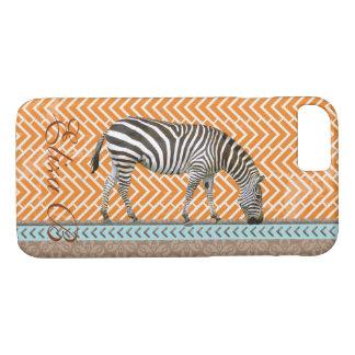 Phone Case Africa Zebra Monogram Chevrons