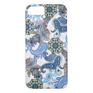 phone case-blue paisley-Blackberry-Samsung iPhone 8/7 Case