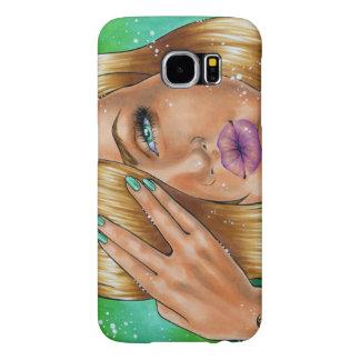 "Phone Case Case ""Go Vegan"" Samsung Galaxy S6 Cases"