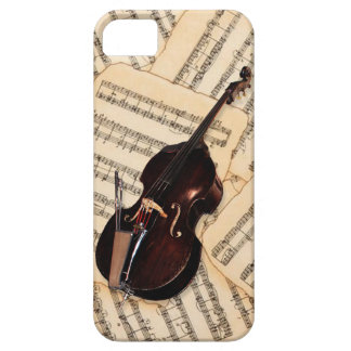 Phone Case - Double Bass and sheet music (antique)