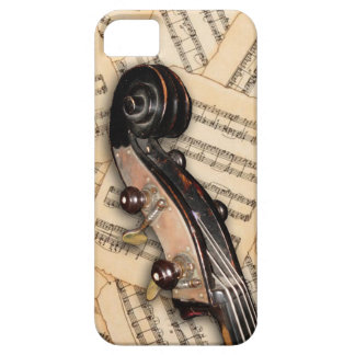 Phone Case - Double Bass Scroll with sheet music