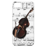 Phone Case. Double Bass & sheet music. Pick color iPhone 5 Covers
