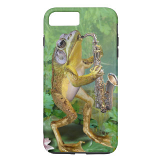 phone case frog playing Saxophone
