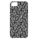 phone case, iphone5, samsung, white swirls case for iPhone 5C