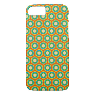 Phone Case - Orange and Blue Beehive Pattern