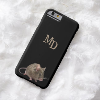 Phone Case with a Little Mouse and Your Initials