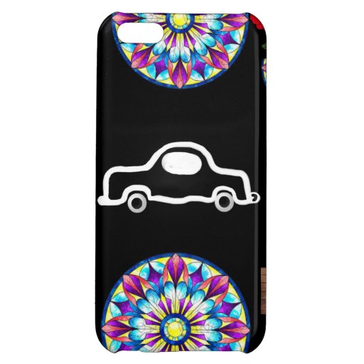 phone case with car and pinwheel design iPhone 5C cases
