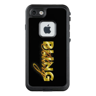 "Phone case with flashy design of ""Bling"" in type"
