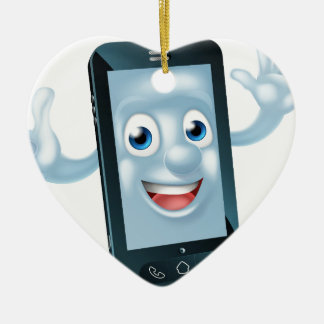Phone character ceramic ornament