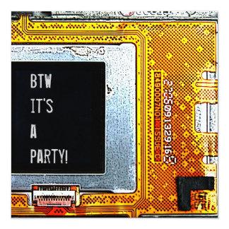 phone circuit board invitation