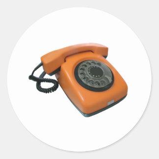 phone classic round sticker