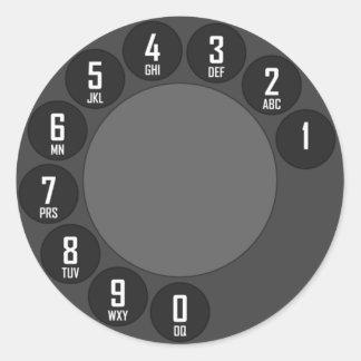 phone dial sticker