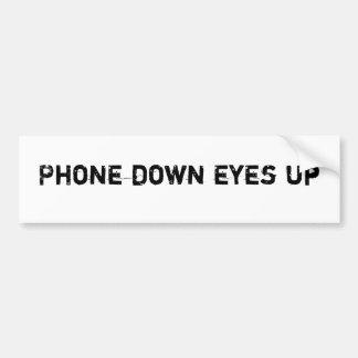 Phone Down Eyes Up Car Bumper Sticker