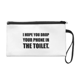 Phone Falls In Toilet Wristlet Purse