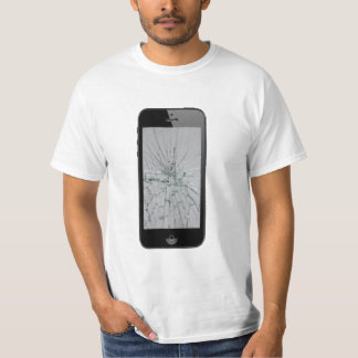 Phone Glass with Broken Glass-Look T-Shirt