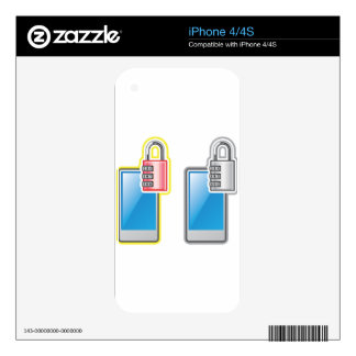Phone Lock iPhone 4S Decals