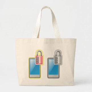 Phone Lock Large Tote Bag