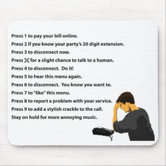 Phone Menu Mouse Pad