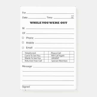 phone message pad