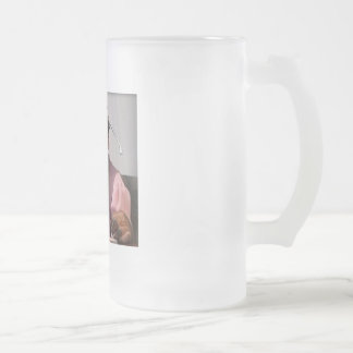 phone monkey frosted glass beer mug