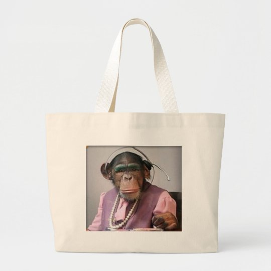 phone monkey large tote bag