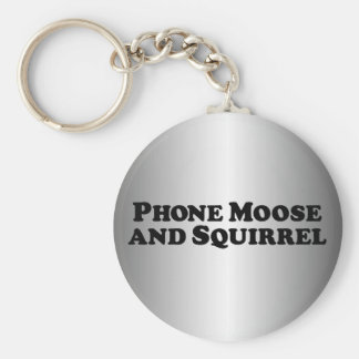 Phone Moose and Squirrel - Mixed Clothes Keychain