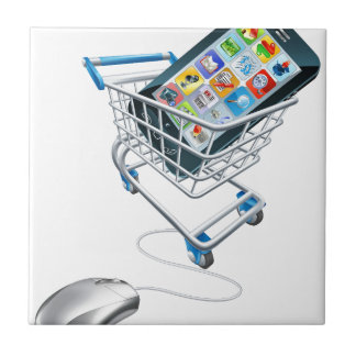 Phone mouse trolley concept ceramic tiles
