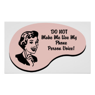 Phone Person Voice Poster