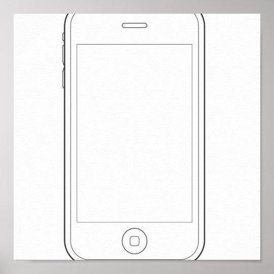 phone plain poster