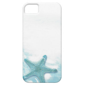phone protector case=blue sky starfish iPhone 5 cover