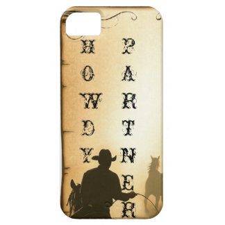 phone protector case= HOWDY PARTNER Cowboy iPhone SE/5/5s Case